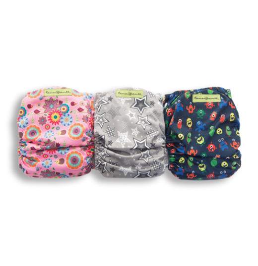 Designer Patterned Bamboo Nappy (with Bamboo Inserts)